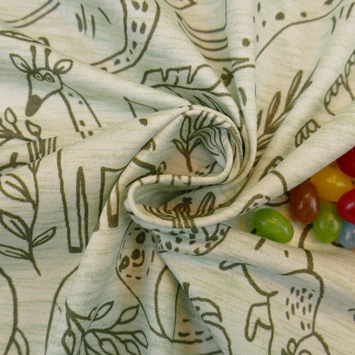 Jersey de coton Wild Friends d'Hilco
