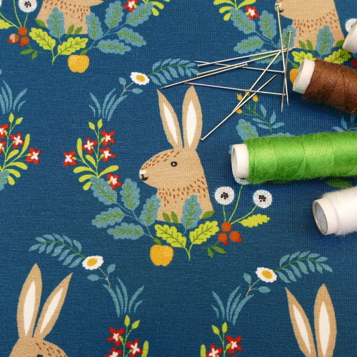 Jersey de coton écusson Lapin d'Hilco