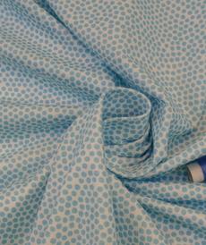 Jersey de coton à pois bleu aqua d'Hilco (2€/10cm)