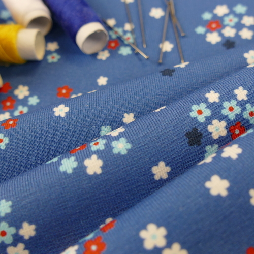 Jersey de coton imprimé fleuri d'Hilco