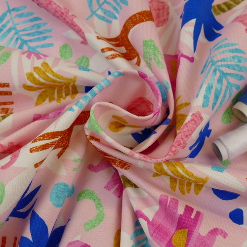 Jersey de coton safari coloré d'Hilco (2€/10cm)