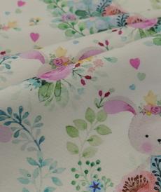 Jersey de coton imprimé romantique Hilco