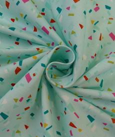 Jersey de coton Summer confetti menthe d'Hilco (2€/10cm)