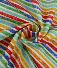Jersey de coton rayé coloré de la marque Hilco
