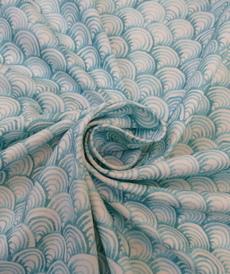 Jersey de coton organic écailles de sirènes d'Hilco