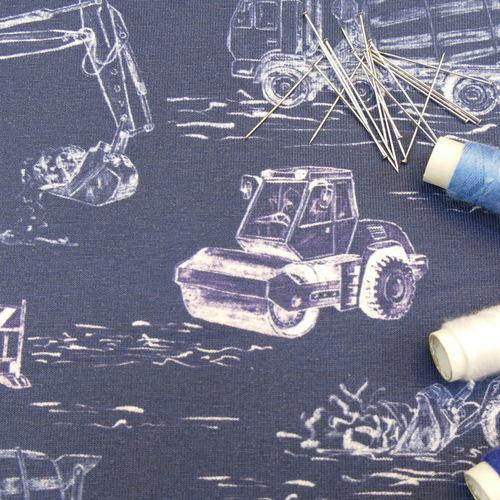 Jersey de coton engins mécaniques de la marque Hilco
