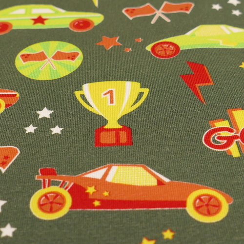 Jersey de coton voitures de course de la marque Hilco