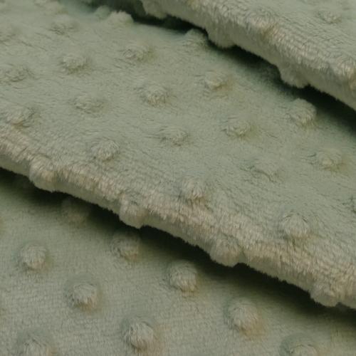 Minky à pois vert ancien clair