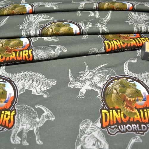 Jersey de coton dinosaures Stenzo (1.6€/10cm)