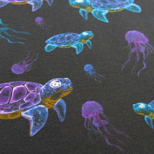 Jersey de coton Tortues aquatiques et méduses Stenzo (10cm/1.6€)