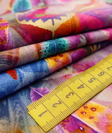 Jersey de coton imprimé Plumes style Inca Stenzo (8€/50cm)