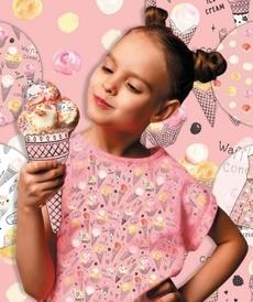 Jersey de coton imprimé Ice cream Stenzo (8€/50cm)