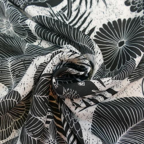 Tissu Viscose Jungle Bird d'Hilco (1.8€/10cm)