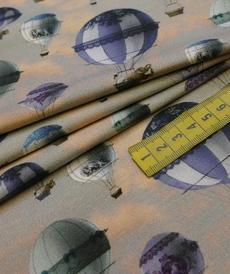 Jersey de coton imprimé Montgolfières de Stenzo