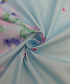 Tissu coton satiné à double bordure imprimée Hilco