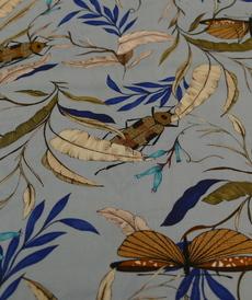 Tissu viscose soyeuse imprimé original d'Hilco (2.3€/10cm)