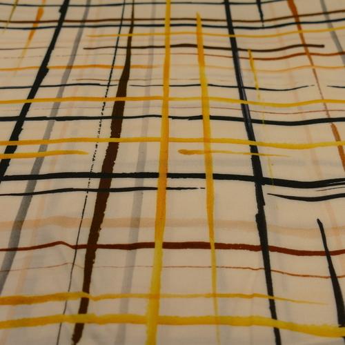 Tissu viscose imprimé quadrillé A la Ville by Bittoun