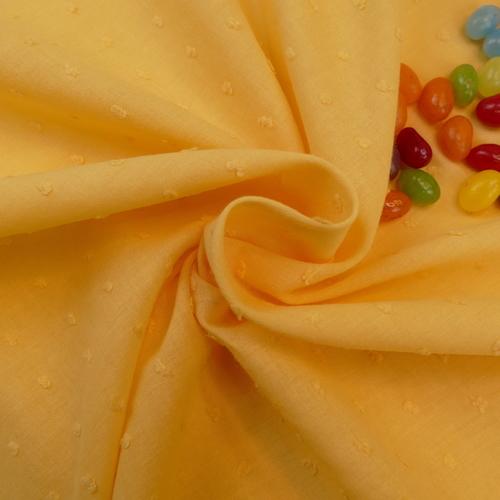 """Tissu coton plumetis jaune """"A la Ville """" by Bittoun (1.45€/10cm)"""