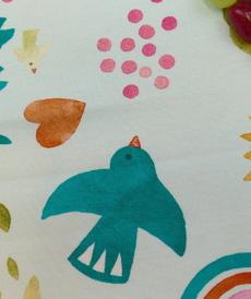 Jersey de coton imprimé estival menthe d'Hilco