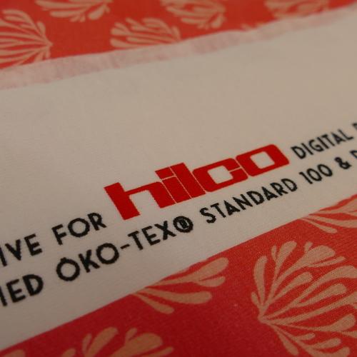 """Jersey de coton imprimé """"coraux"""" d'Hilco (2.2€/10cm)"""