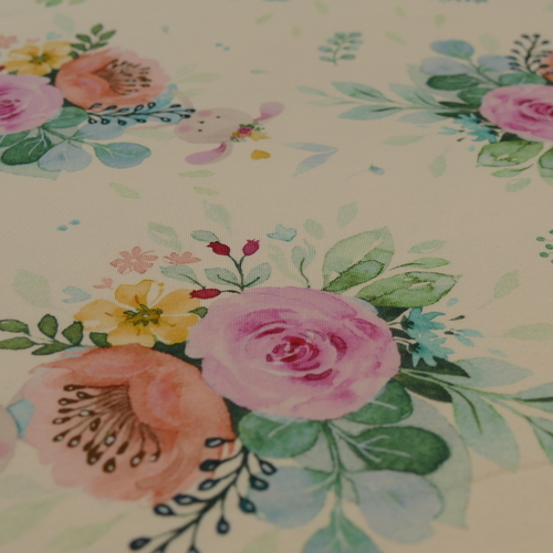 Jersey de coton fleuri printanier d'Hilco