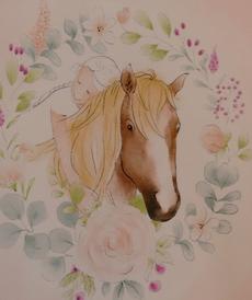 """Jersey de coton panneau """"cheval"""" d'Hilco"""