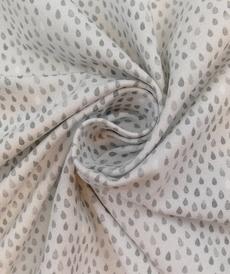 Jersey de coton gouttes gris d'Hilco