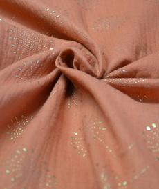 Double gaze de coton motifs dandelions brillants