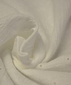 Double gaze de coton brodée off White (1.20€/10cm)