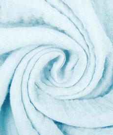 Double gaze de coton uni bleu bébé