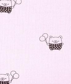 Double gaze de coton rose à petits ours (0.9€/10cm)