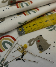 Jersey de coton imprimé Ladino (5.75€/ 50 cm)