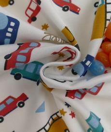 Jersey de coton imprimé véhicules (5.75€/ 50cm)