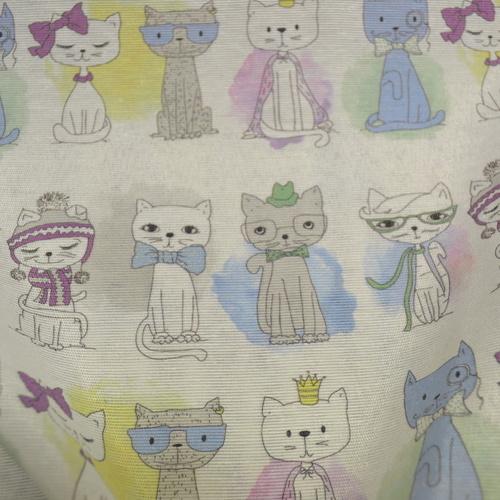 Tissu coton polyester imprimé chats