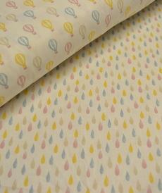 Tissu coton imprimé petites gouttes (0.9€/10cm)