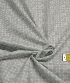Tissu coton imprimé petits ronds verts tendres (0.9€/10cm)