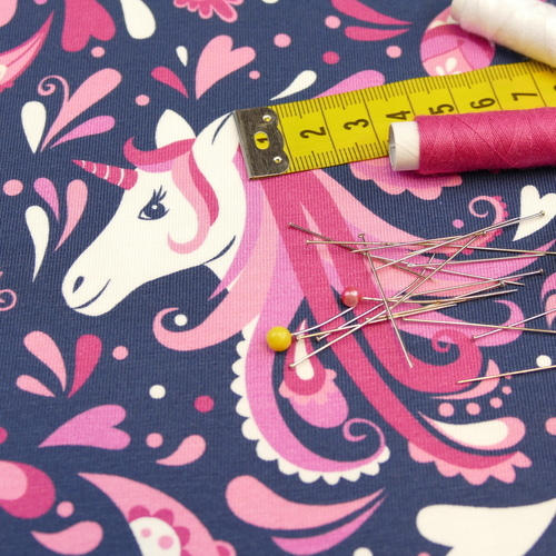 Jersey de coton Unicorn Paisley d'Hilco