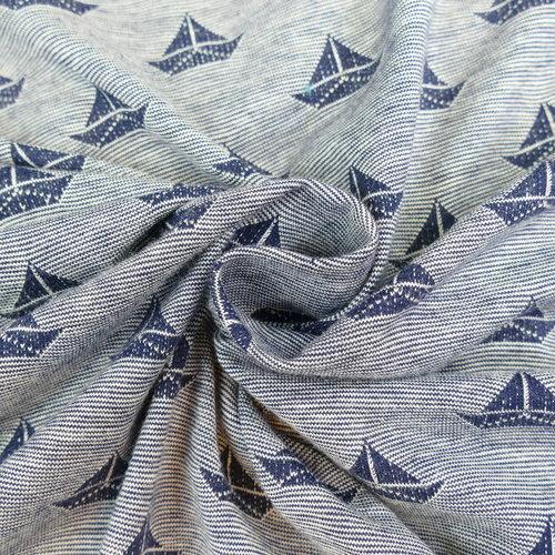 Jersey de coton maritime bleu gris d'Hilco