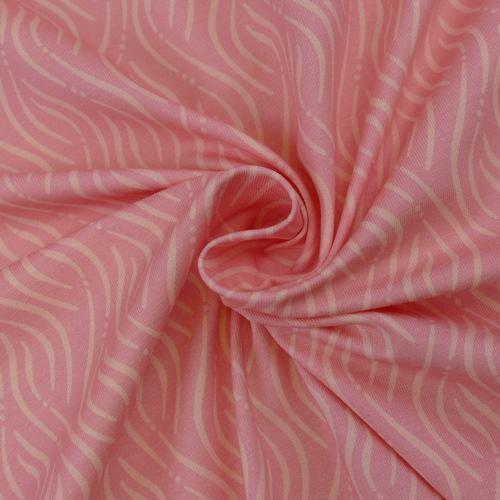 Jersey de coton imprimé rose saumon d'Hilco (2.2€/10cm)