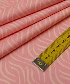Jersey de coton imprimé rose saumon d'Hilco