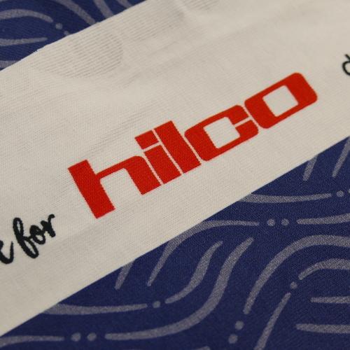 Jersey de coton imprimé marine gris d'Hilco
