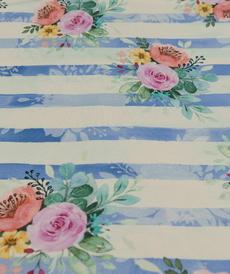 Jersey de coton sweat bouclette Girls Stripe d'Hilco