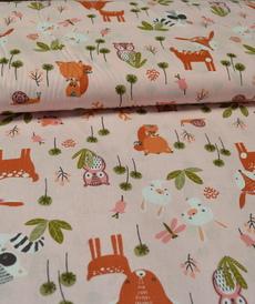 Tissu coton imprimé animaux de la forêt DOLINA