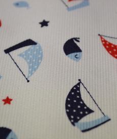 Tissu coton polyester thème marin d'Hilco