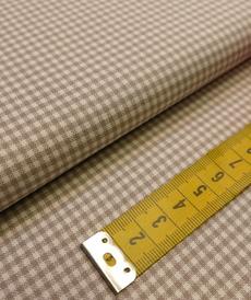 Tissu coton haut de gamme tissé beige/crème