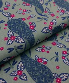 Tissu coton haut de gamme motifs paons