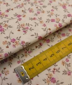 Tissu coton haut de gamme petites fleurs délicates