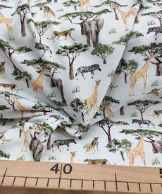 Jersey de coton animaux de la jungle