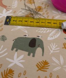 Jersey de coton imprimé Safari Gizou