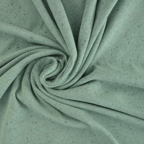 Jersey de coton moucheté vert ancien